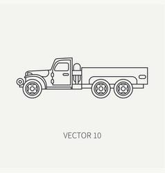 line flat plain icon service staff open vector image