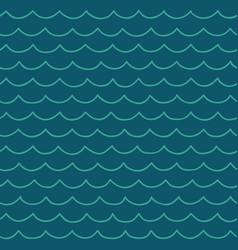 seamless cartoon sea pattern vector image