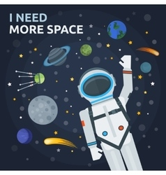 Space And Man Concept vector image vector image