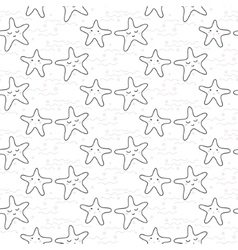 Star stylized line fun seamless pattern for kids vector