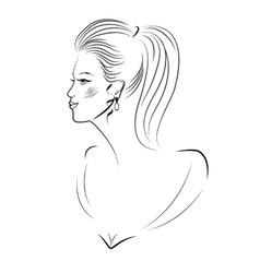 Young women portrait vector image vector image