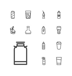 13 soda icons vector