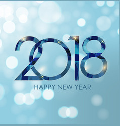 2018 new year gold glossy background vector image