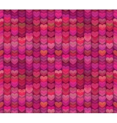 Abstract Hearts Background in Rich Shades of Pink vector image