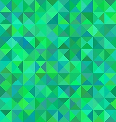Abstract triangular green pattern or background vector image