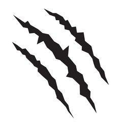 Animal monster claw vector