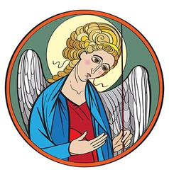 Archangel colored drawing vector
