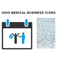 Arrest Calendar Day Icon With 1000 Medical vector