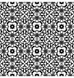 art deco pattern in black and white vector image