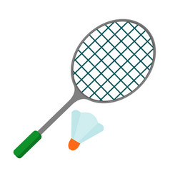 badminton racket icon vector image
