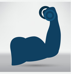 Biceps icon vector