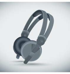 big grey headphones vector image