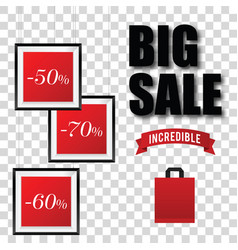 Big sale with picture frame vector
