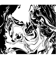 black and white liquid texture distress vector image