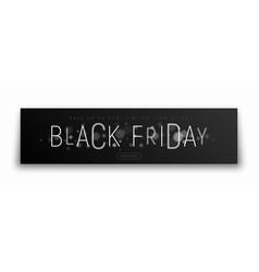 black friday sale banner modern typography vector image