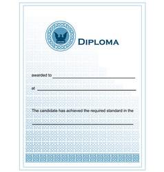 blue diploma vector image