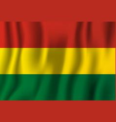Bolivia realistic waving flag national country vector