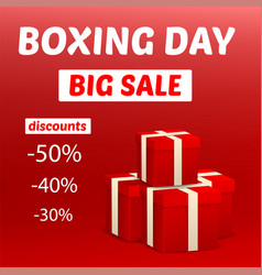 boxing day big sale concept background realistic vector image