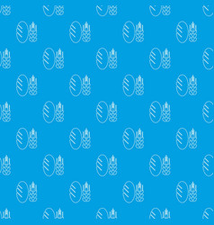 bread wheat pattern seamless blue vector image
