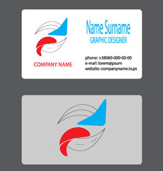 Business card logo branding vector