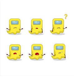 Cartoon character ghost among us yellow vector