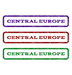 central europe watermark stamp vector image