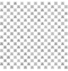 Checkered shamrock pattern seamless vector