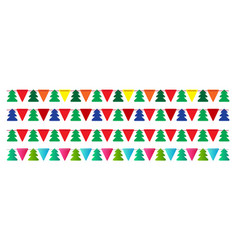 colorful flags and bunting garlands for vector image