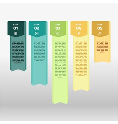 colorful ribbon info graphic vector image