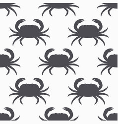 Crab silhouette seamless pattern vector