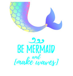 Cute mermaid tail mermay concept vector