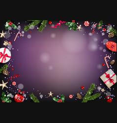 dark fairy background card vector image