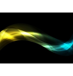 Dark smooth iridescent waves background vector image