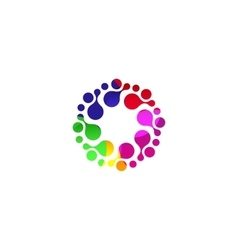 Digital colorful isolated circle logo template vector image