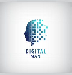 Digital man logo vector