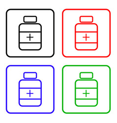 Drugs sign icon pack with pills symbol medicine vector