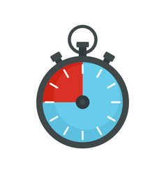 Fitness stopwatch icon flat style vector