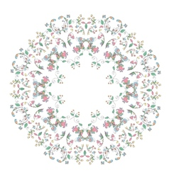 Floral motifs in Russian style vector