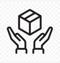 Fragile icon handle with care logistics and vector