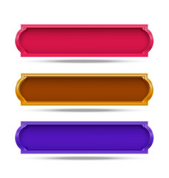 frame color set design on white background vector image