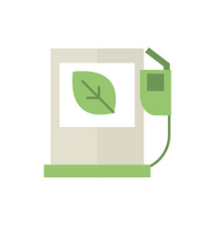 gas station pump green energy icon vector image