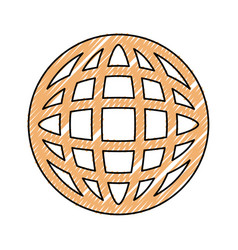 global connect doodle vector image
