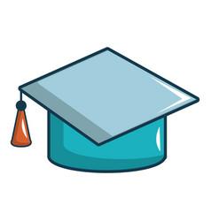 Graduation hat icon cartoon style vector