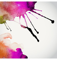 Hand drawn watercolor background st vector
