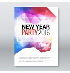 Happy New Year invitation Card brochure template vector image