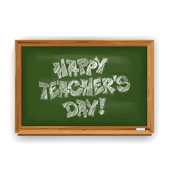 happy teachers day greeting design with school vector image
