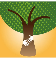 Human Hug tree for nature vector