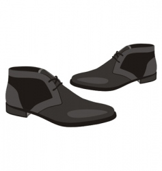 Illustration of men pair shoes vector