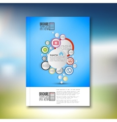 Infographic with colored circles Brochure flyer vector image