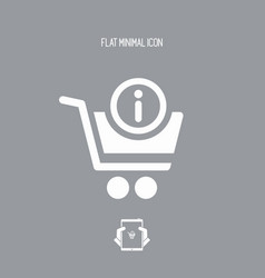 Information and support for shopping vector